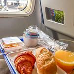 Breakfast on board at the park position at ABJ
