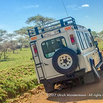 Land Rover Defender with a broken axle near Seronera Visitors' Centre, Serengeti National Park