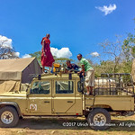 Replenishing the water storage of the Kenzan Kisura Camp, Serengeti National Park, Tanzania