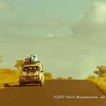 An old Renault 4 heading towards Sakaraha on the Route Nationale 7, Madagascar