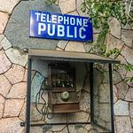 Telephone public, Couleur Caf�, Antsirabe, Madagascar