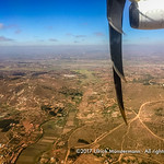 The outskirts of Antananarivo, Madagascar seen from the air