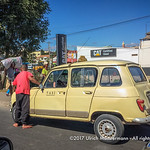 A common sight as a taxi in Antananarivo, Madagascar an old Renault 4